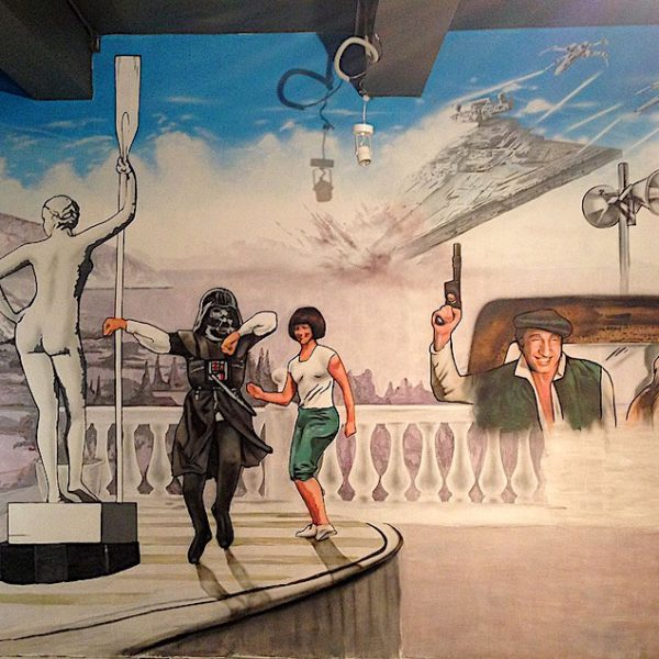 Роспись стен в ресторане на Покровке