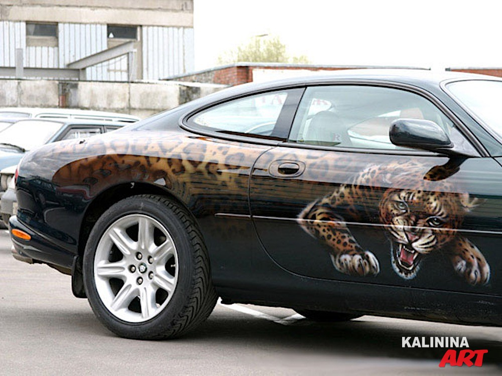 Аэрография на Jaguar