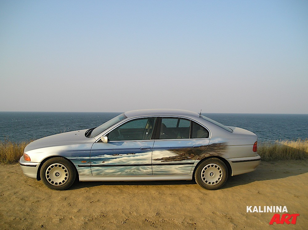 Аэрография на BMW - море