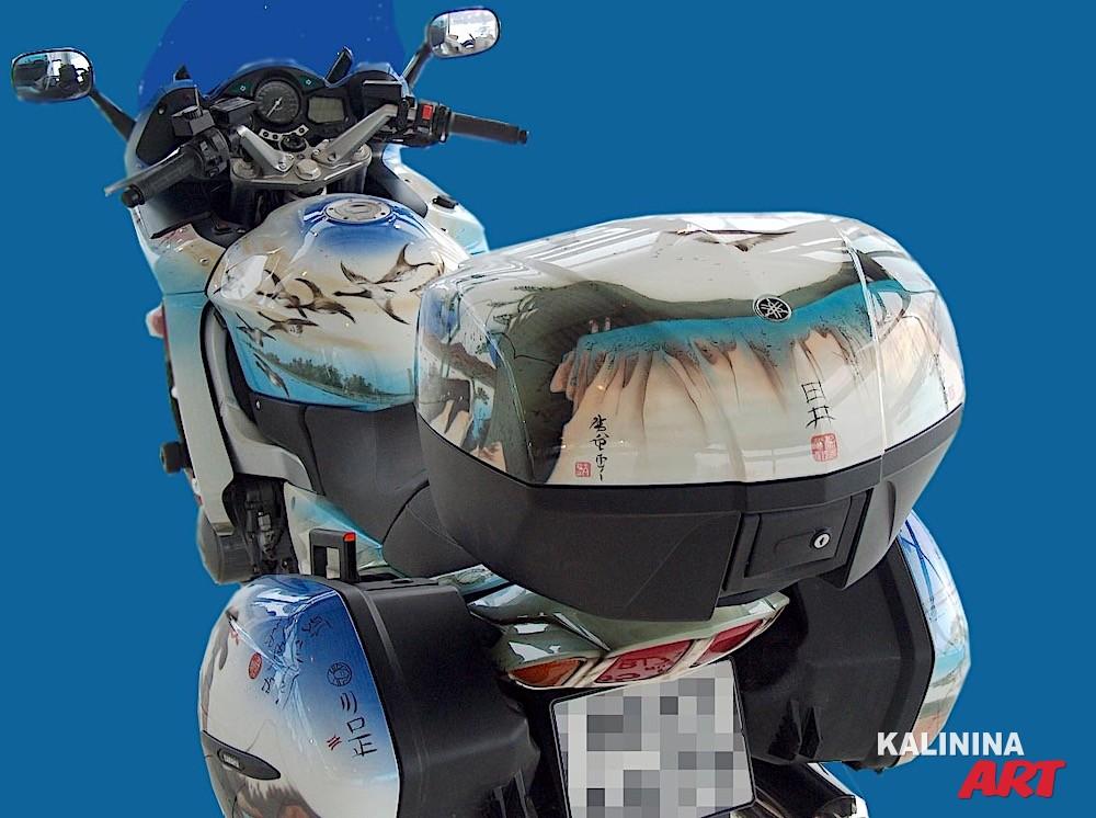 Аэрография на мотоцикле