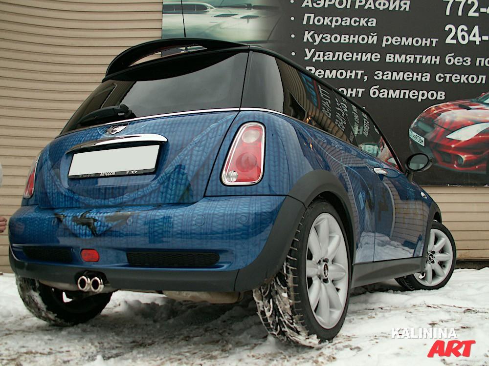 Аэрография на автомобиле Mini