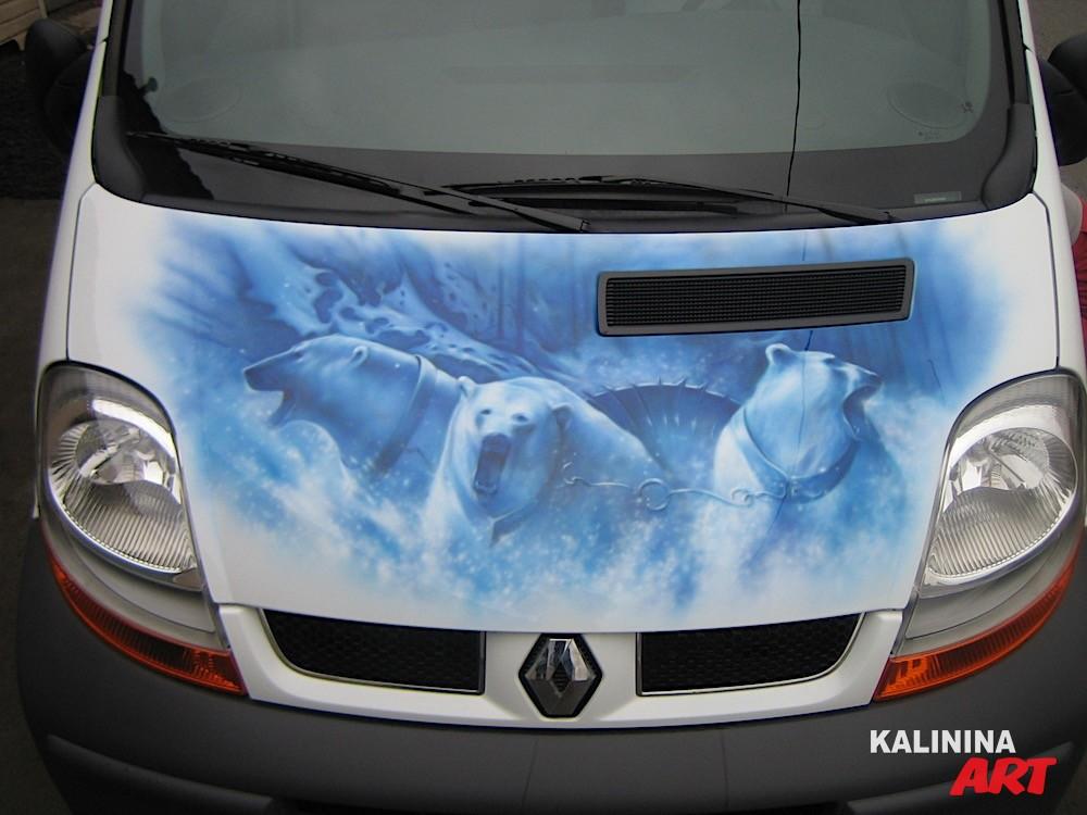 Аэрография на автобусе Renault