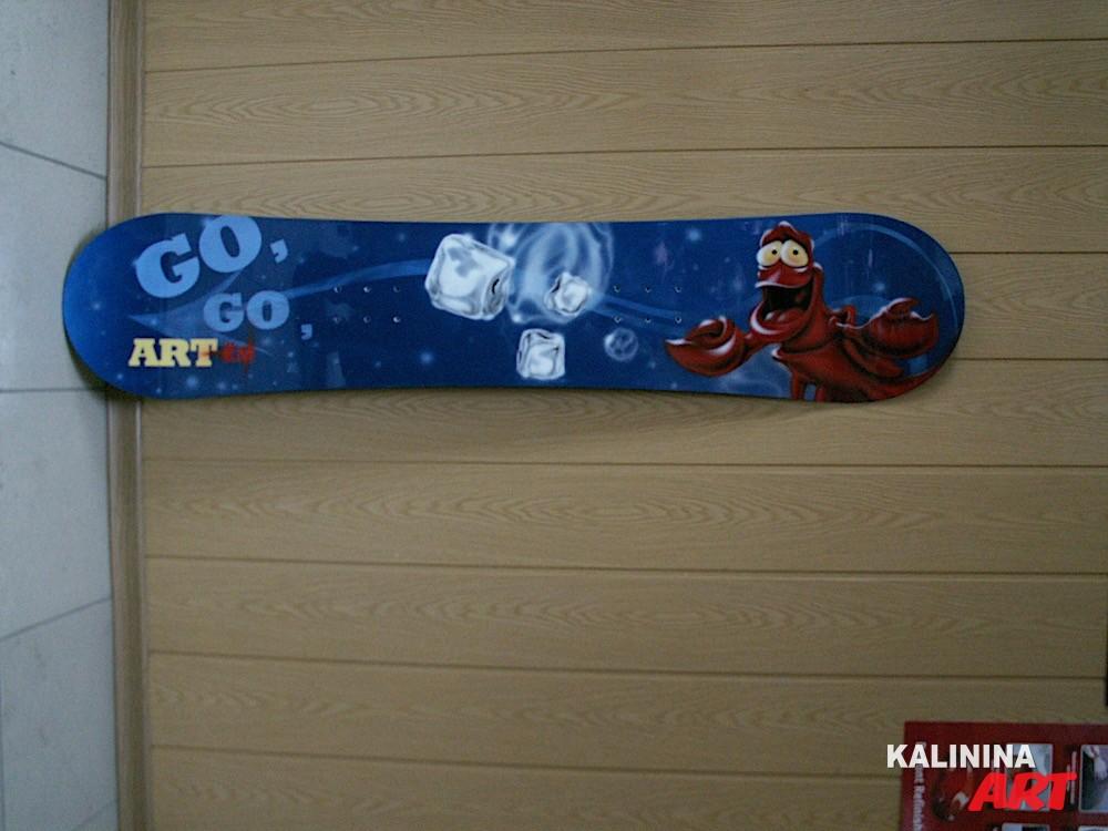 Аэрография на сноуборде