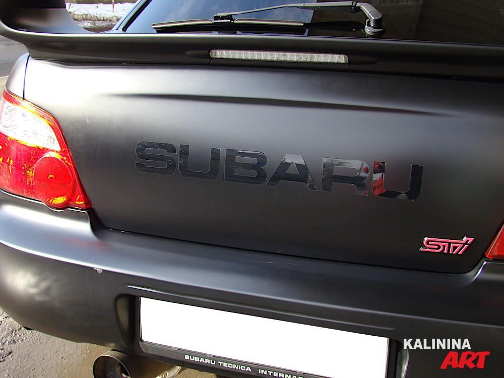 Уникальная аэрография на Subaru
