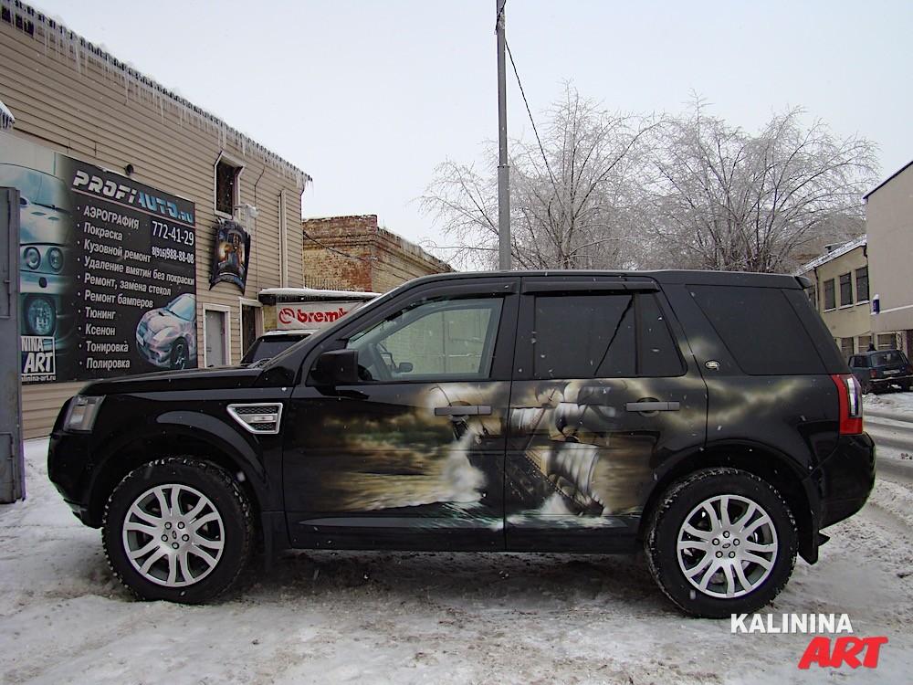 Аэрография Land Rover
