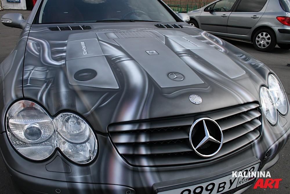 Роспись автомобиля Mercedes