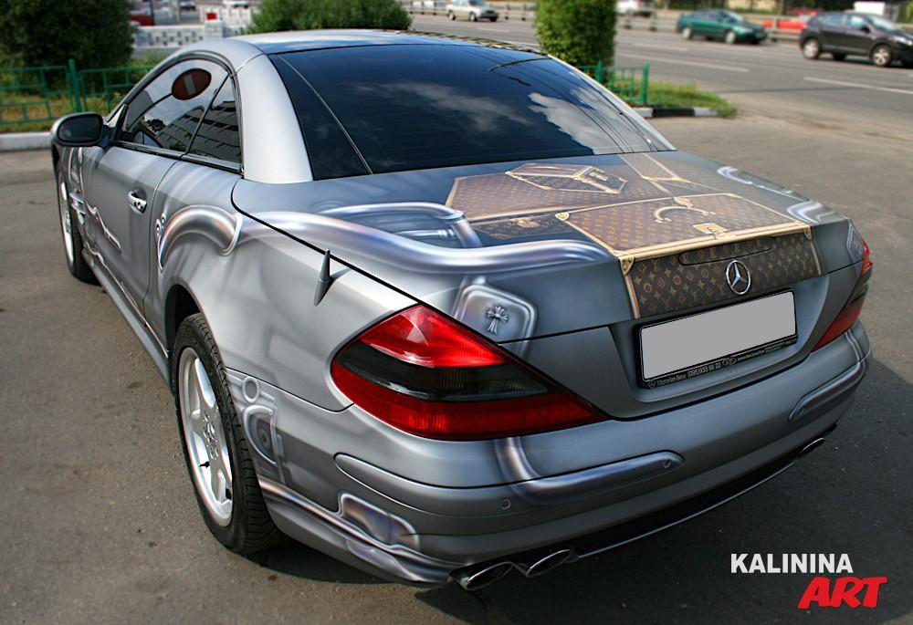 Роспись автомобиля Mercedes - Louis Vuitton