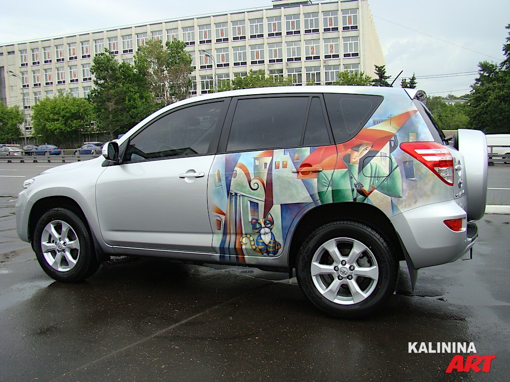 Аэрография Toyota RAV4