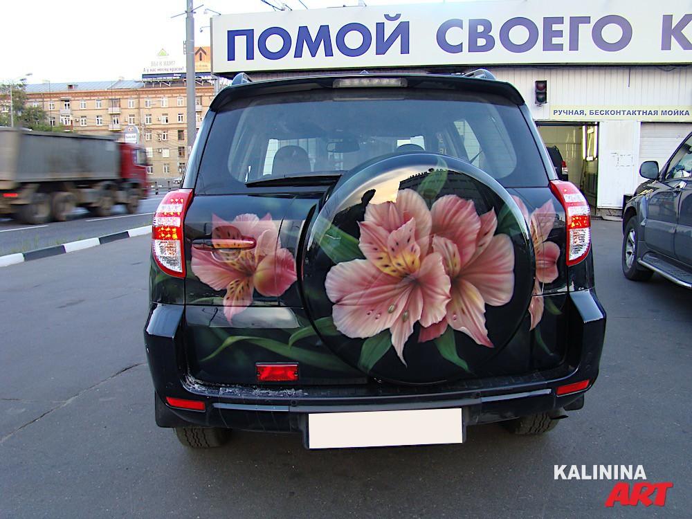 Аэрография цветы