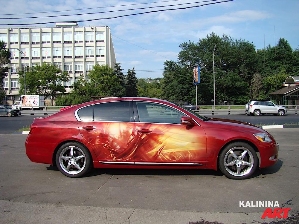 Абстрактная аэрография на Lexus
