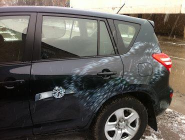 Рисунок на Toyota RAV4