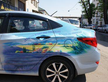 Роспись автомобиля Hyundai - пейзаж