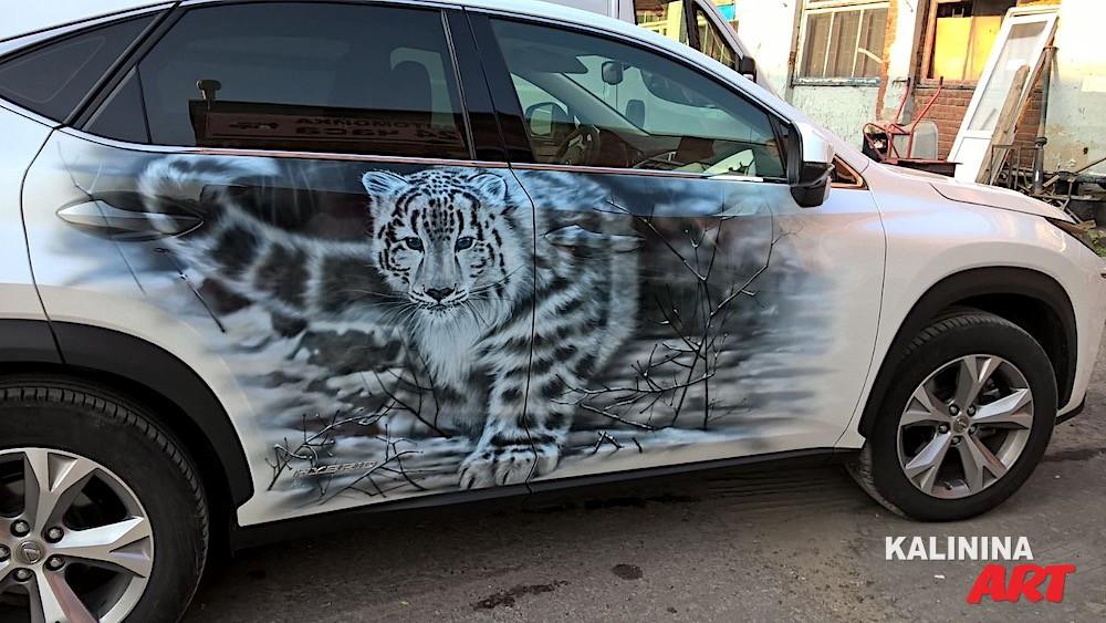 Роспись джипа Lexus