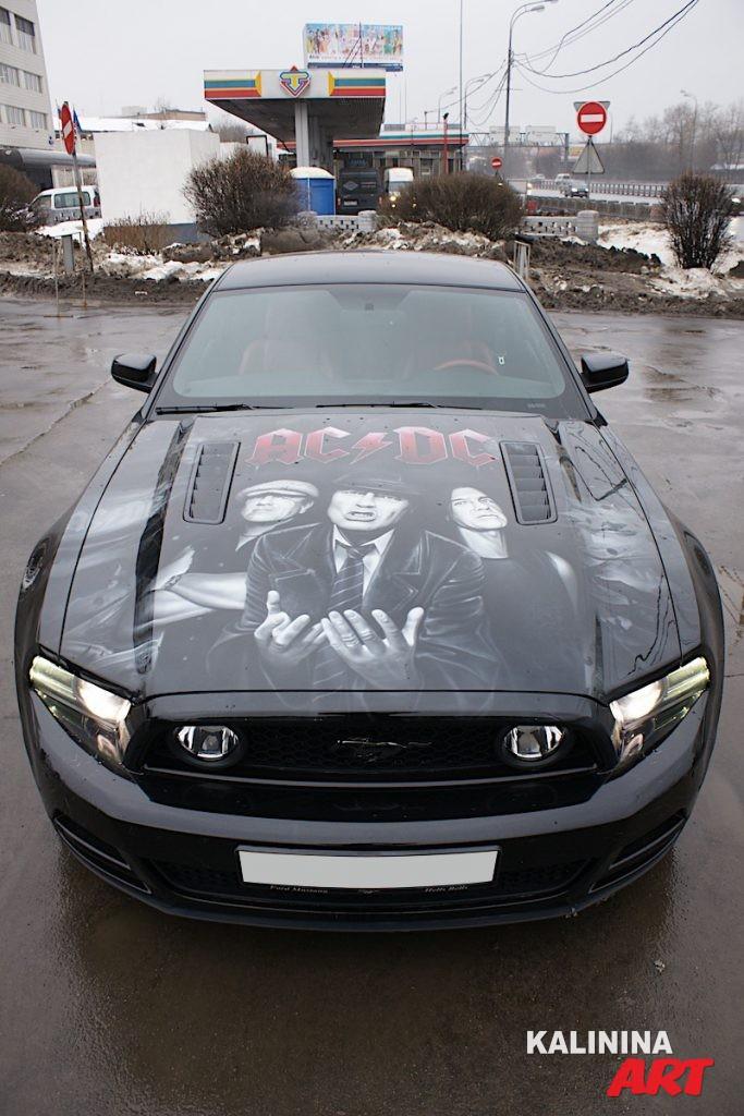 Аэрография Ford Mustang