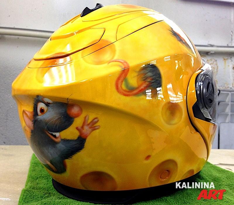 Нанесение рисунка на шлем
