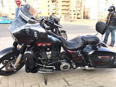Аэрография на мото Harley Davidson