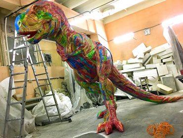 Роспись рекламной конструкции Динозавр